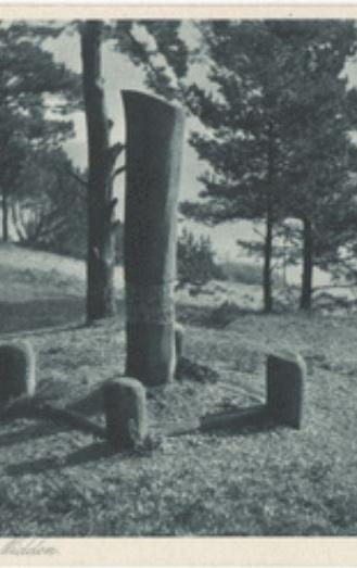 Das Denkaml aus Hold auf dem Blodeberg in Nida