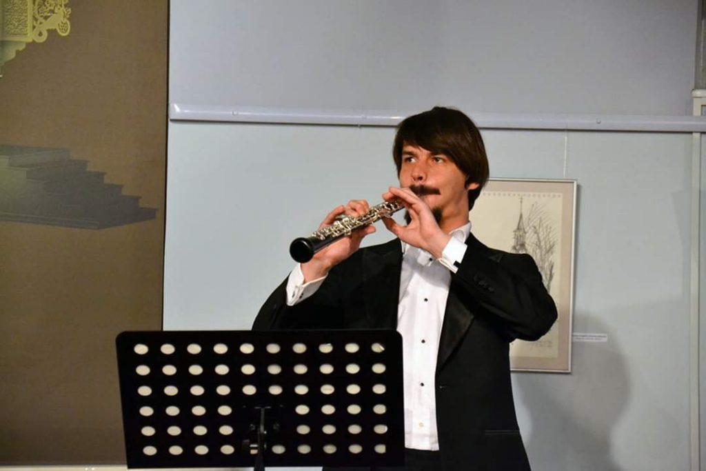 Oboe auf dem Festival